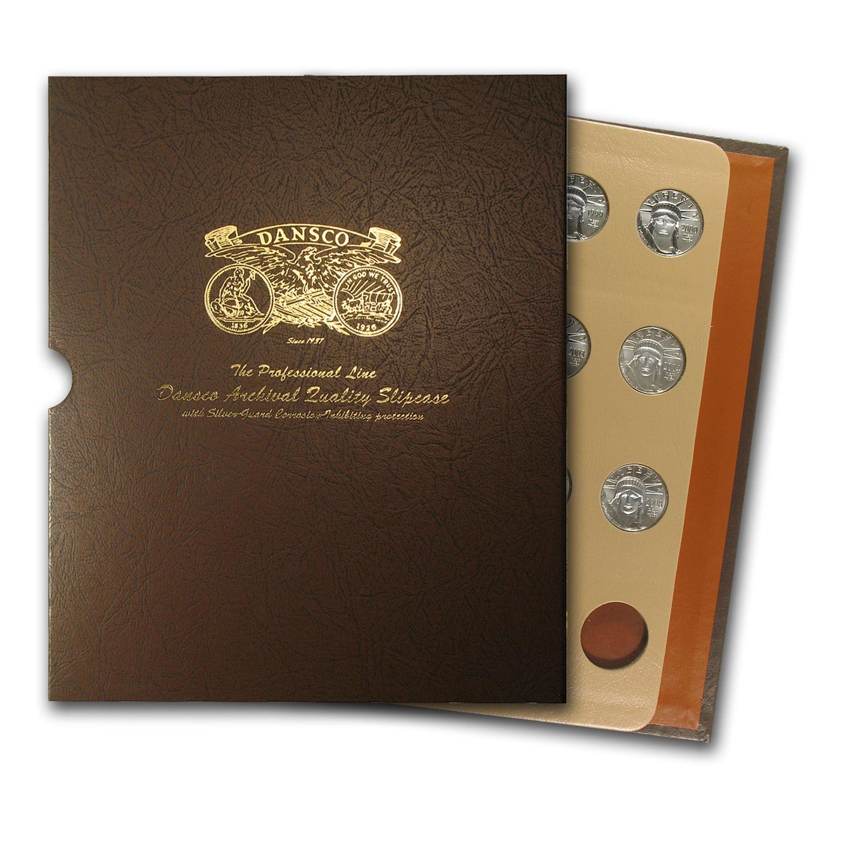 1997-2008 12-Coin 1 2 oz Platinum Eagle Set BU (Dansco Album) by