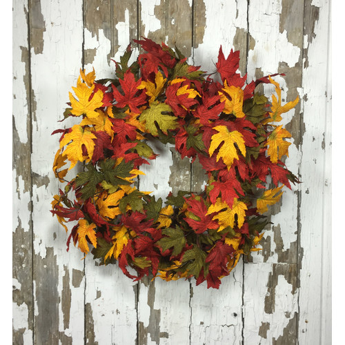 Mills Floral Company 22'' Artificial Leave Wreath