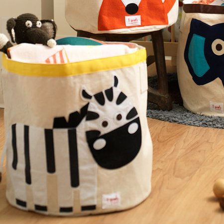 Image of 3 Sprouts Zebra Storage Bin