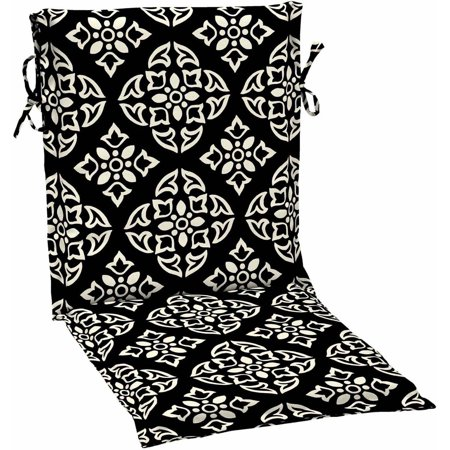 Better Homes & Gardens Black and White Medallion Outdoor Patio Sling Chair Cushion, 17.5
