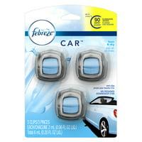 Febreze Car Air Freshener Vent Clips, Linen & Sky, 3 Count