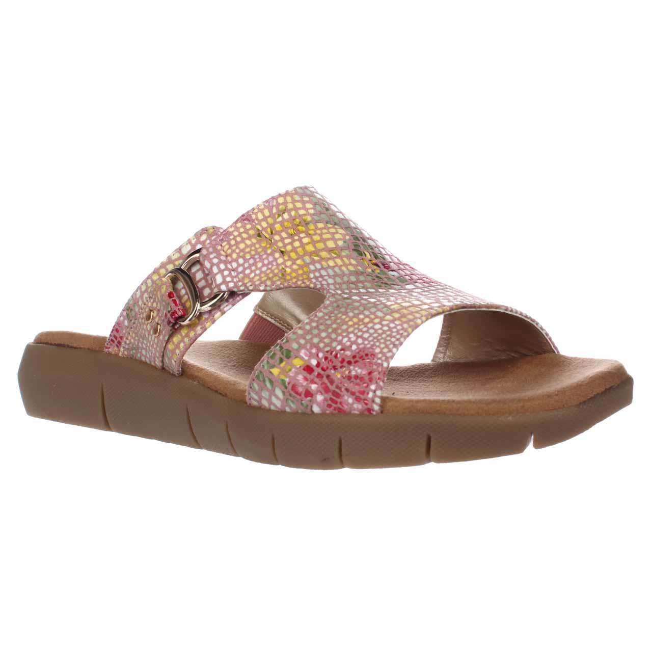 Womens Aerosoles New Wip Fisherman Slide Sandals Pink Floral by Aerosoles
