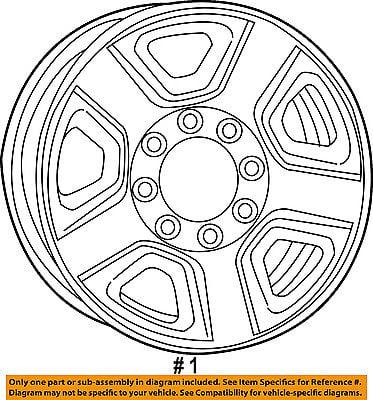 Ram Chrysler Oem 13 14 3500 Steel Wheel 1vu98s4aaa