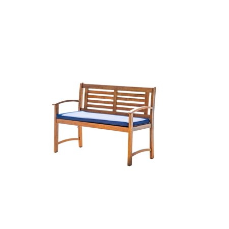 Living Essentials Corp Forestland Patio Garden Bench 2 Seater with Cushion ()