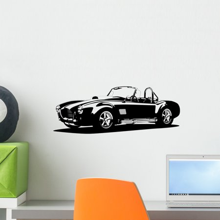 - Classic Sport Silhouette Car Wall Decal by Wallmonkeys Peel and Stick Graphic (18 in W x 7 in H) WM204329