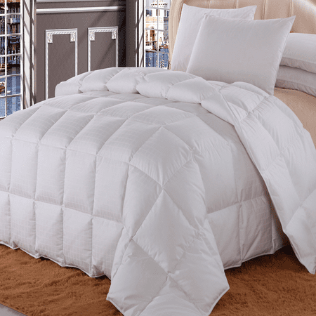 Checkered White Down Comforter All Season Fill Weight By Royal