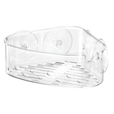 Mainstays Clear Suction Corner Basket