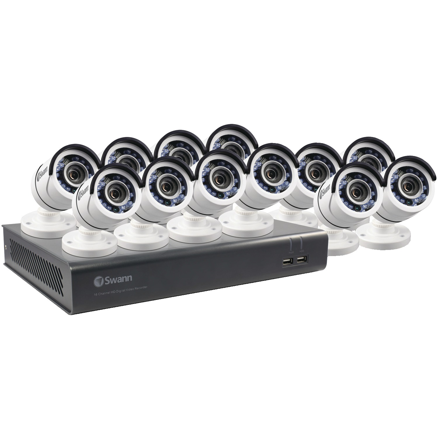 Swann SWDVK-1645912-US 16-Channel 4595 Series 1080p DVR With 2TB HD & 12 Bullet Cameras