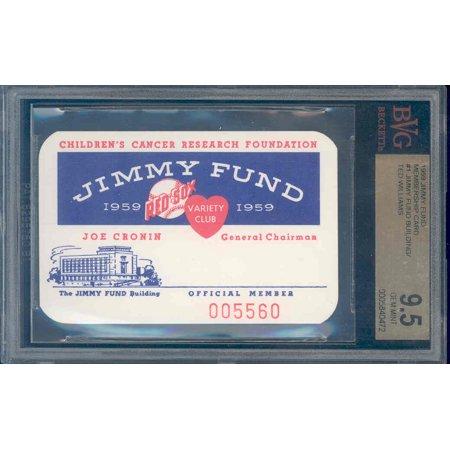 1959 jimmy fund #1 TED WILLIAMS membership card BGS BVG 9.5