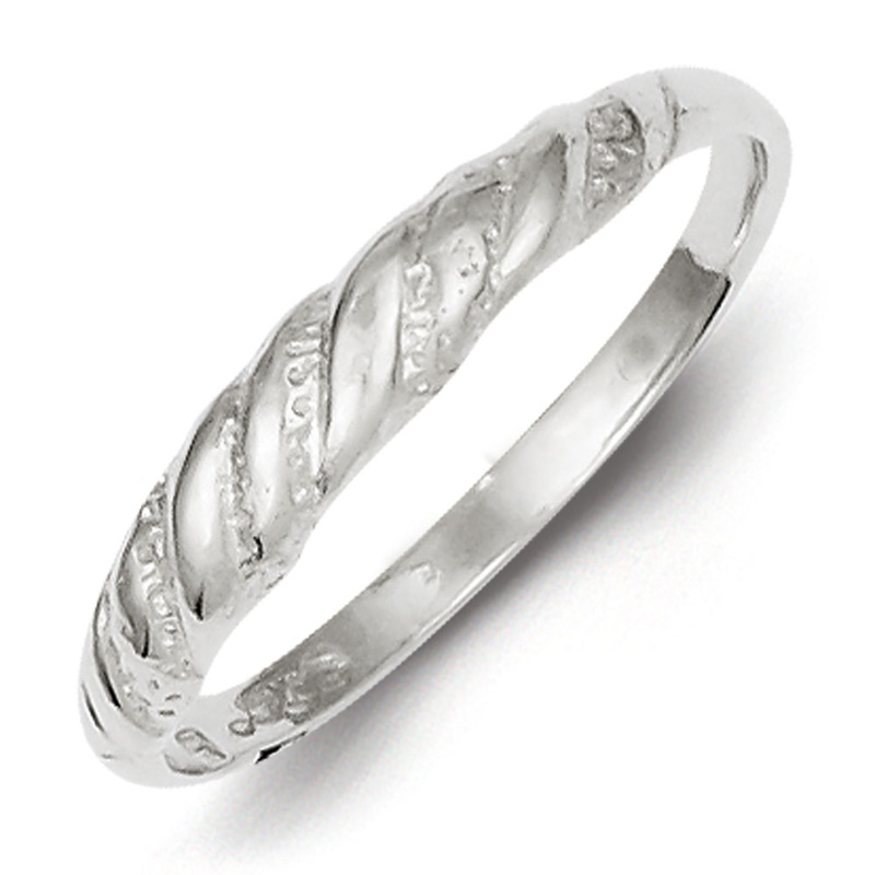Sterling Silver D/C Twisted Ring