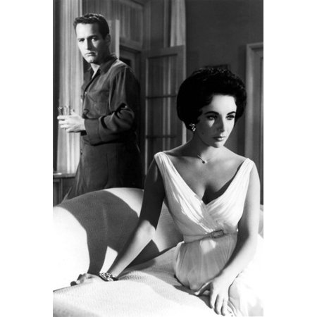 Paul Newman and Elizabeth Taylor in Cat on a Hot Tin Roof 24x36