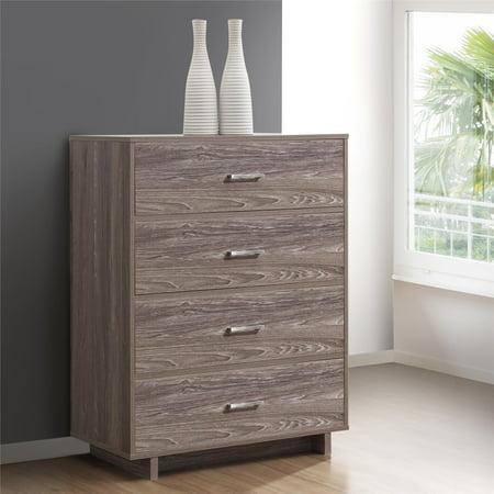 Mainstays Silverton 4 Drawer Dresser, Multiple Colors ()