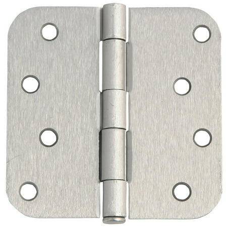 14 Bright Nickel Hinges (Design House 202572 8-Hole 4
