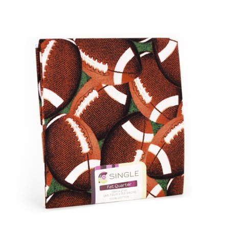 Nfl Football Fabric - Creative Cuts Fat Quarter Cotton 18