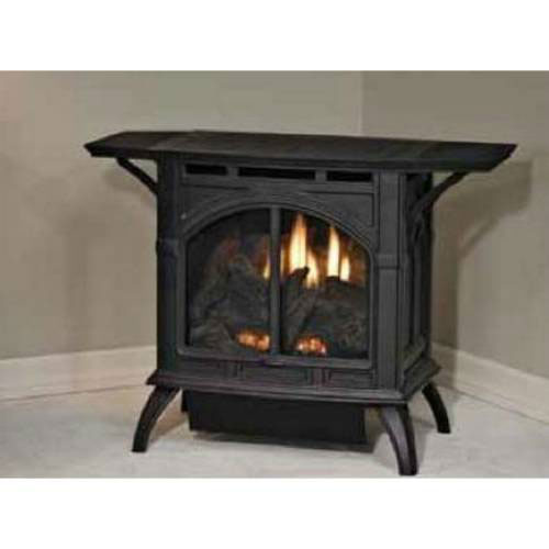 Heritage Cast Iron Porcelain Mahogany Stove VFD10CC30MN - Natural Gas