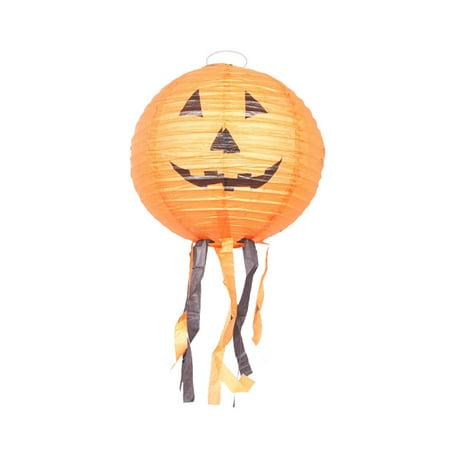 Laboratory Halloween Party (Halloween Paper Lanterns Pumpkin Smile Face Lantern Party Decor)