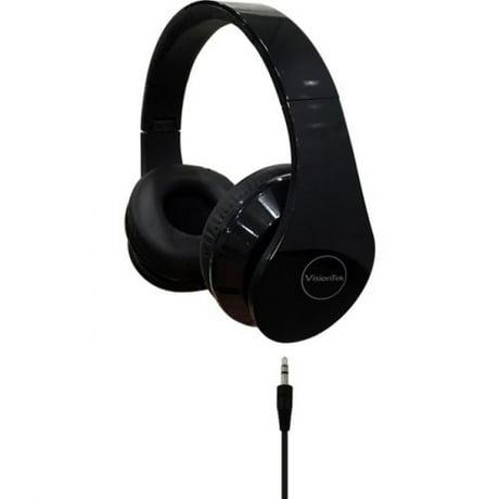 Folding stereo headphones blk for Le meuble headsets