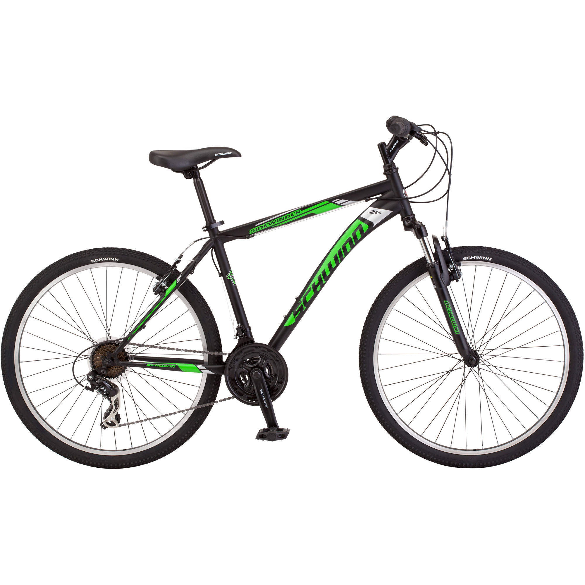 26 Schwinn Sidewinder Men S Mountain Bike Matte Black Green