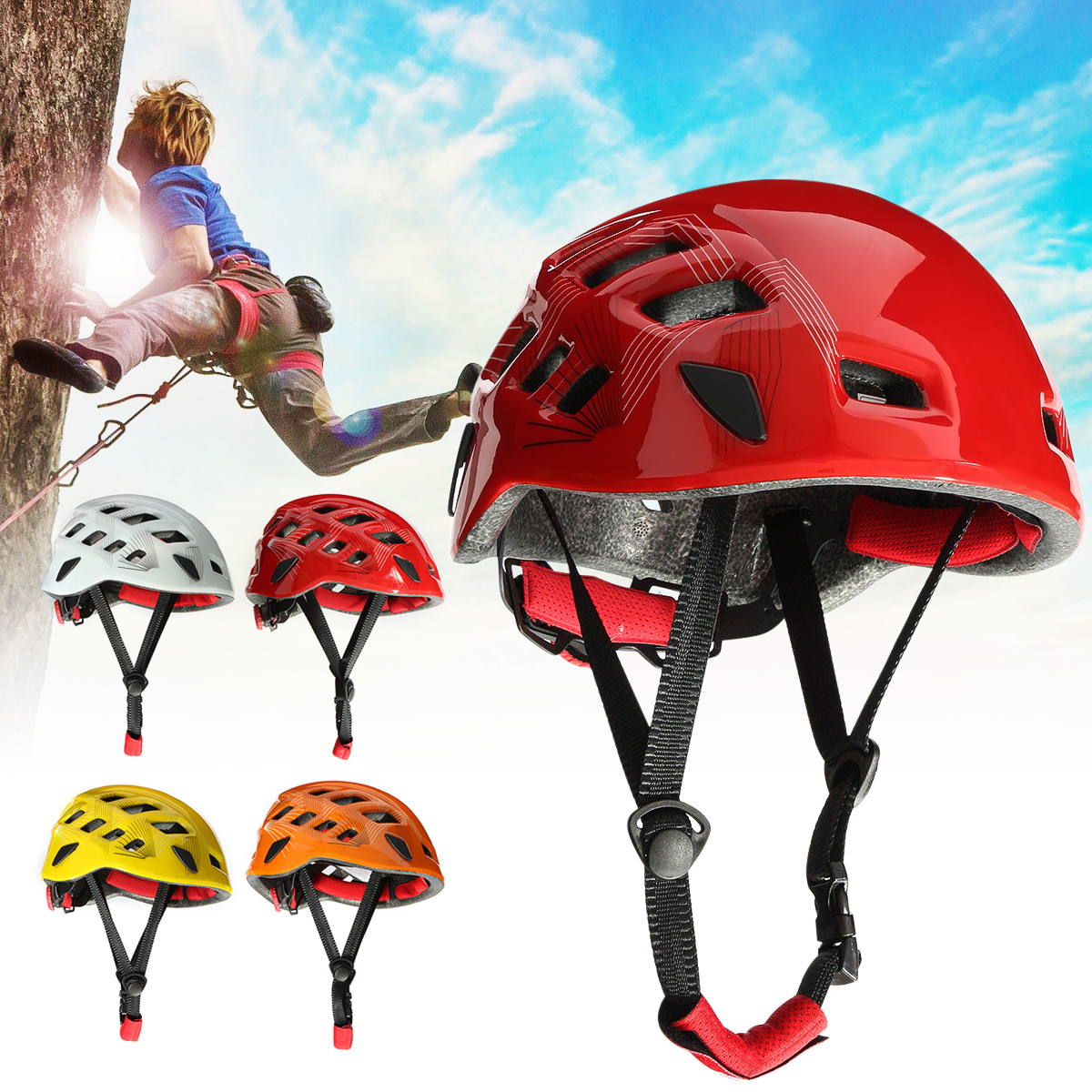 Safety Rock Climbing Downhill Caving Rappelling Rescue constructionhat Helmet Mountain Construction Safety Protection Helmet