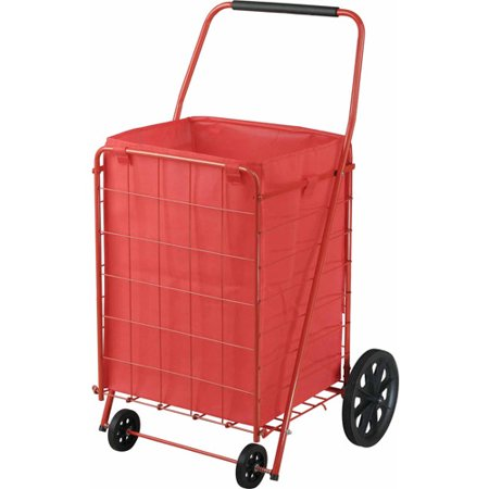 Sandusky 4 Wheel Folding Cart With Liner  Fsc4021