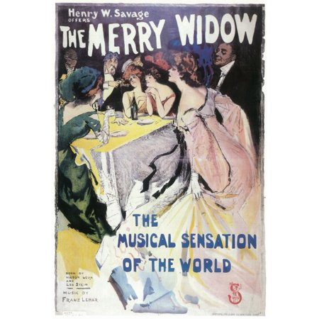 Lace Merry Widow (Merry Widow, The (Broadway) - movie POSTER (Style A) (11