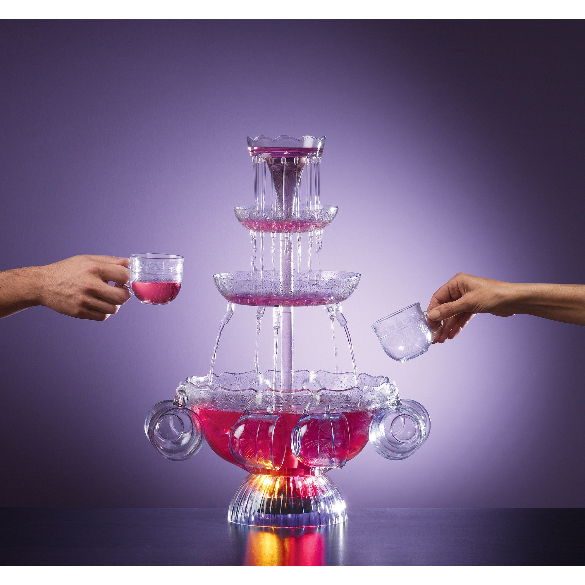 Nostalgia Electrics Vintage Collection Lighted Party Fountain, LPF210