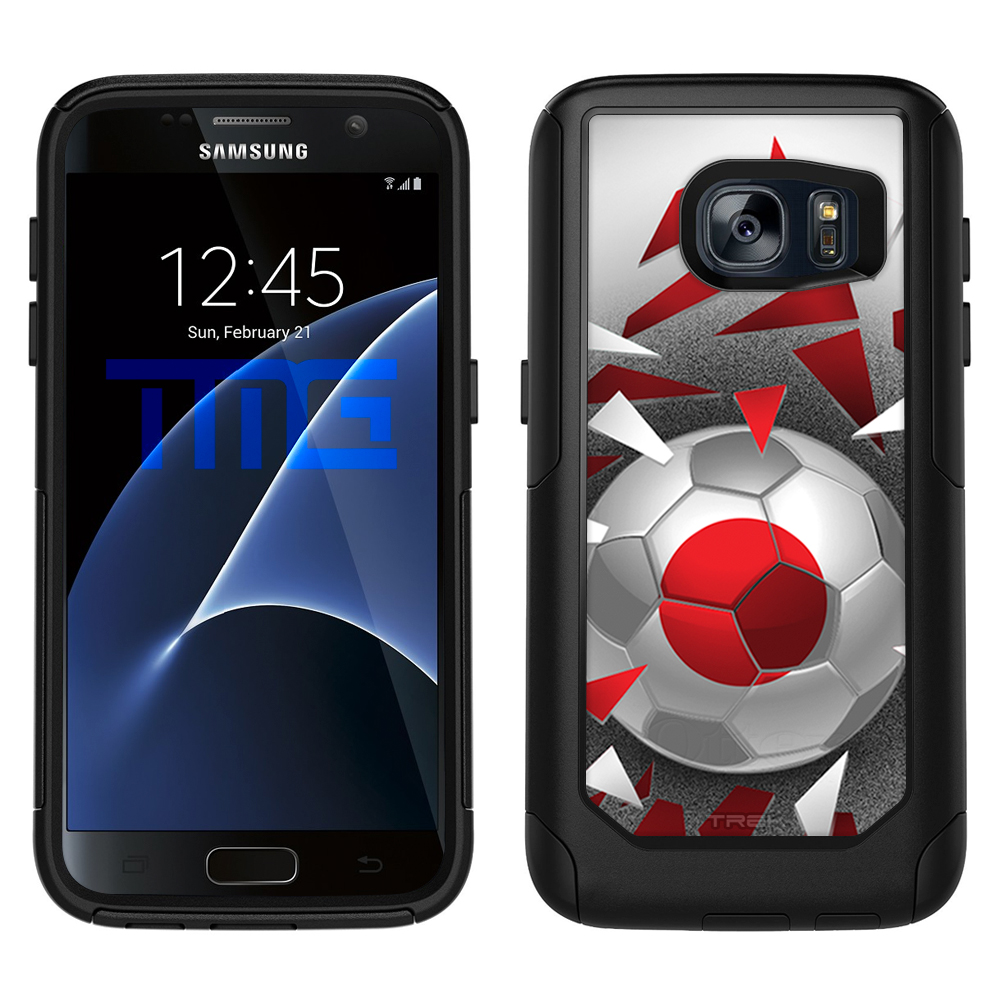 Skin Decal for OtterBox Commuter Samsung Galaxy S7 Case Soccer Ball Japan Flag by Trek Media Group