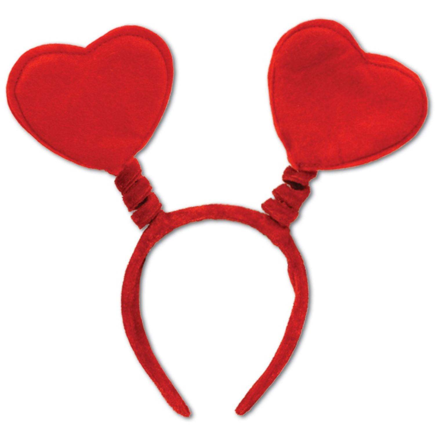 Pack of 12 Red Heart Bopper Headbands Valentines Party Favors