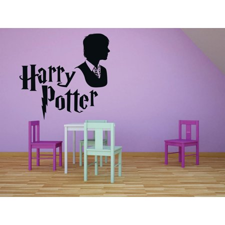 Harry Potter Logo Lettering Character Films Movies Books Series Art Design Silhouette Peel & Stick Custom Wall Decal Vinyl Sticker 12 Inches X 12 Inches ()