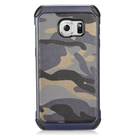 Insten Camouflage Hard Dual Layer Hybrid Case For Samsung Galaxy S7 - Gray/Black - image 4 de 4