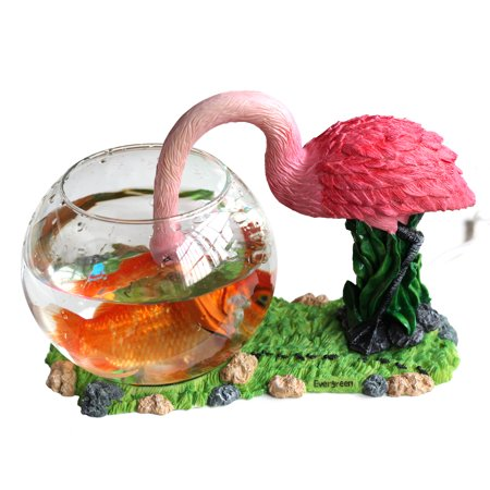 Aquarium round glass fish bowl betta home decoration for Betta fish tanks walmart
