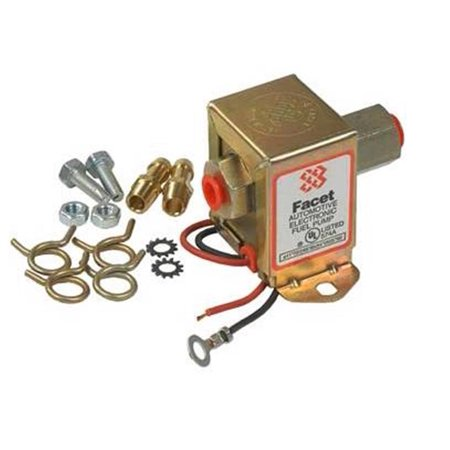NEW 12V FACET SOLID STATE FUEL PUMP FITS KIT 4-7PSI CARBURETED ENGINES FACET 40100 ()