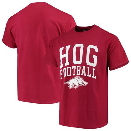- Arkansas Razorbacks Mascot Football T-Shirt - Cardinal