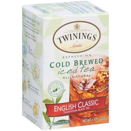 Twinings of London? English Classic Cold Brewed Iced 20 ct Tea Bags 1.41 oz. Box