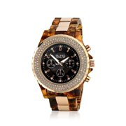 Stainless Steel Simulated Tortoise Shell Link Watch
