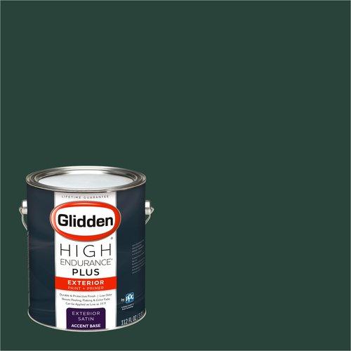Glidden High Endurance Plus Exterior Paint and Primer, Dark Hunter Green, #30GG 06/113
