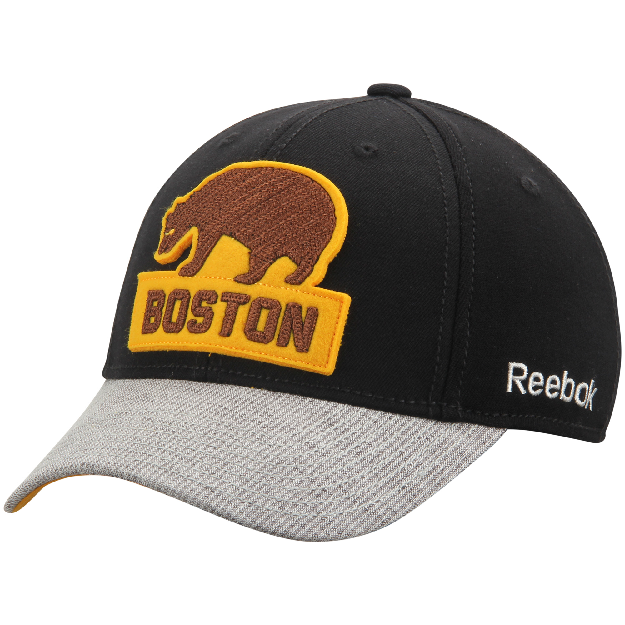 Boston Bruins Reebok 2016 Winter Classic Coaches Flex Hat Black Gray S M by REEBOK/SPORTS LICENSED DIVISION