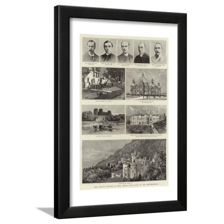 The Church Congress at Rhyl, North Wales, Views in the Neighbourhood Framed Print Wall Art