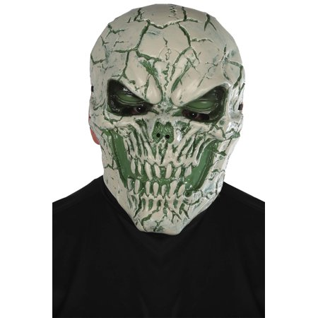 Unisex Adult Light-Up Poison Skull With Green Eyes Halloween Costume Accessory