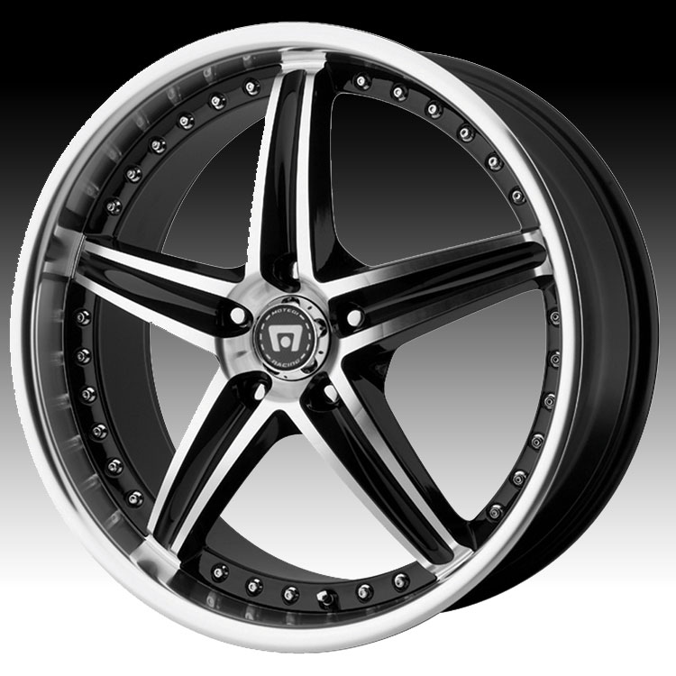 Motegi Racing MR107 Machined Black 18x8 5x4.25 42mm (MR10...