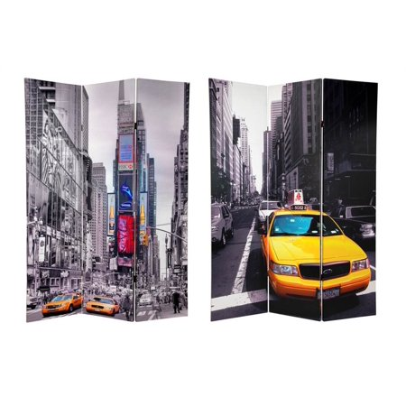 3 Panel Double Sided New York Taxi Room Divider