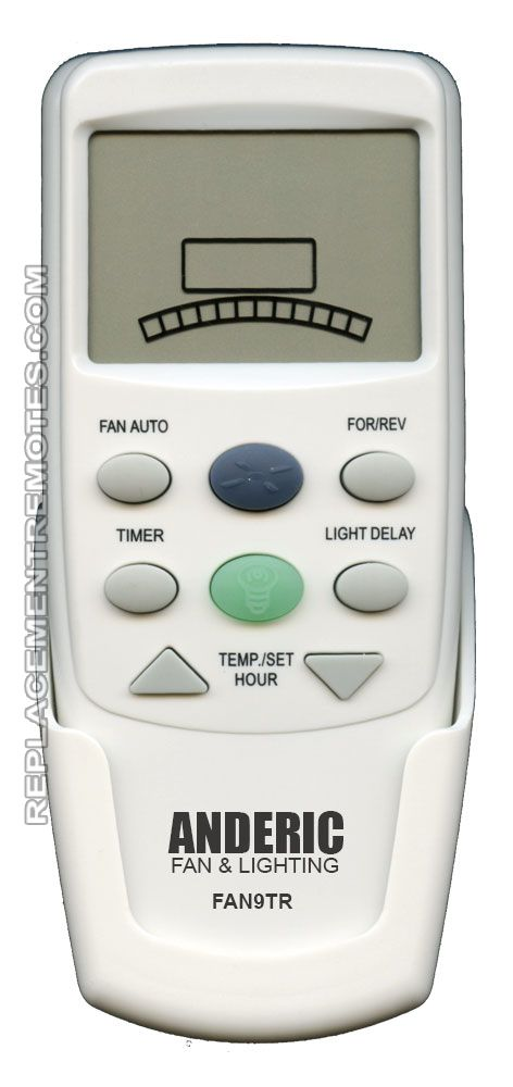ANDERIC FAN9T REV Thermostatic without Dimming for Hampton Bay (p n: FAN9TR) Ceiling Fan Remote Control (New) by