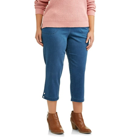 Women's Plus-Size 2-Pocket Crop with Snaps