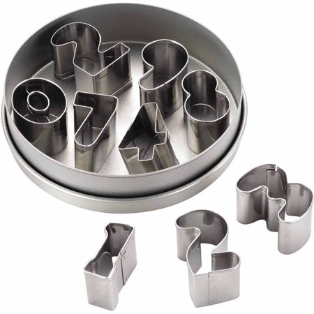 Cake Boss Decorating Tools 9-Piece Stainless Steel Number Fondant and Cookie Cutter Set (Halloween Decorating Ideas For Cookies)