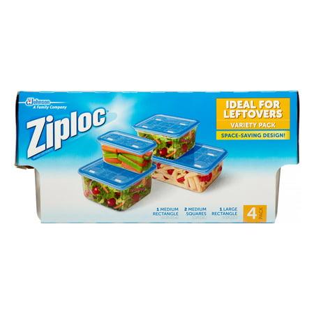 Ziploc Food Storage Containers Variety Pack 4 Ct Walmartcom