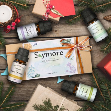 Skymore Top 6 Essential Oils Gift Set, 100% Pure & Natural Aromatherapy Oil for Valentine's Day Gift, Therapeutic Grade-Tea Tree, Lavender, Peppermint, Eucalyptus, Lemongrass, Oran - image 9 de 11