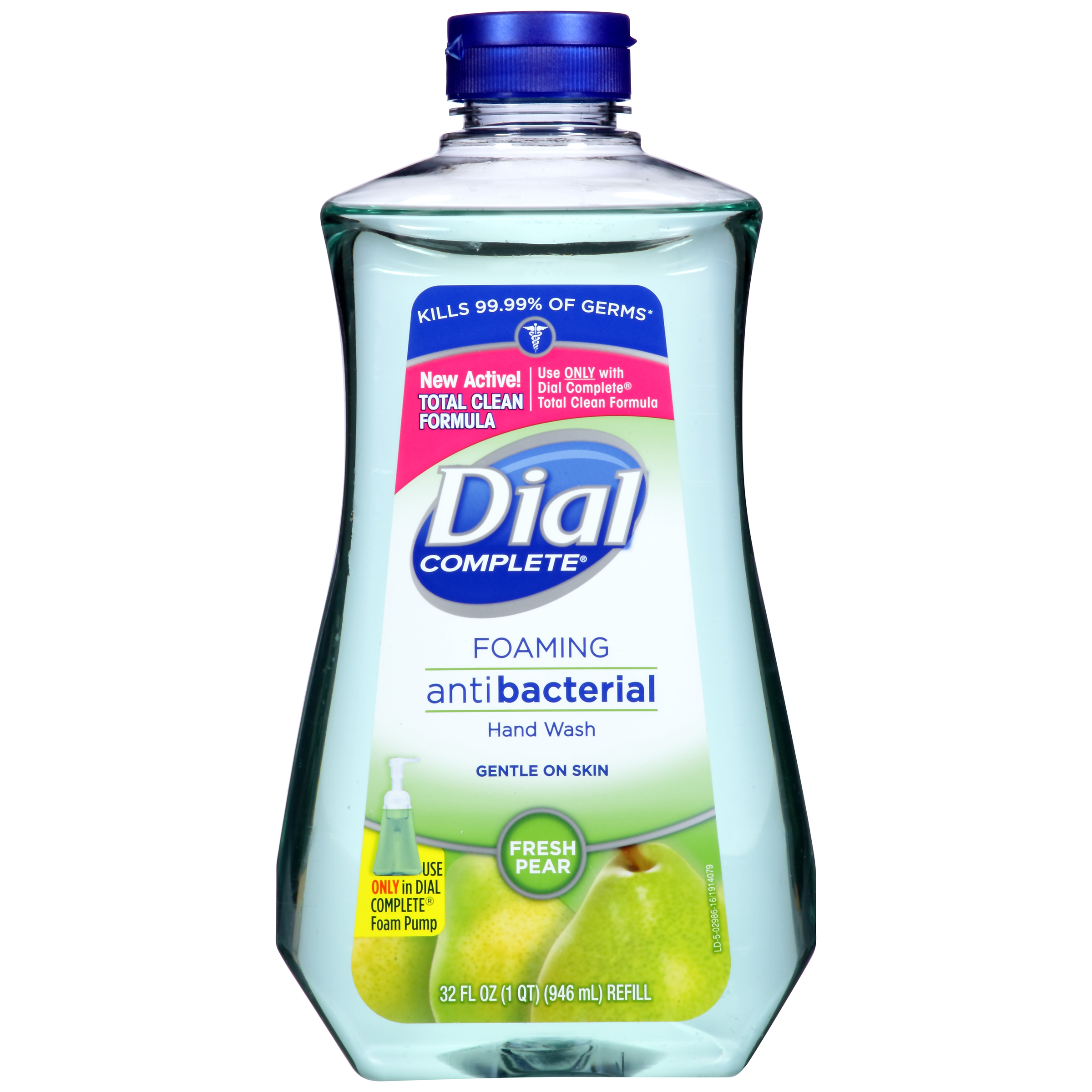 (2 pack) Dial Complete Antibacterial Foaming Hand Wash Refill, Fresh Pear, 32 Oz