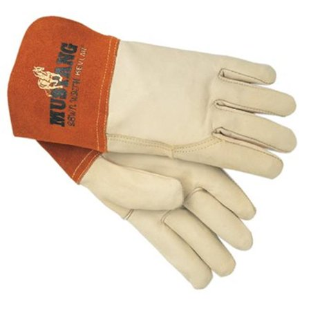 Mig Tig Welders Gloves Gauntlet Cuff Premium Grain Cowhide Large