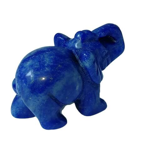 AIHOME 1.5-Inch Elephant Animal Pocket Stone Carved Elephant Elephant Statue Figurine Jade Stone Elephant Home Decoration Ornament - image 5 de 5