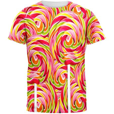 Swirl Giant Lollipop All Over Adult T-Shirt